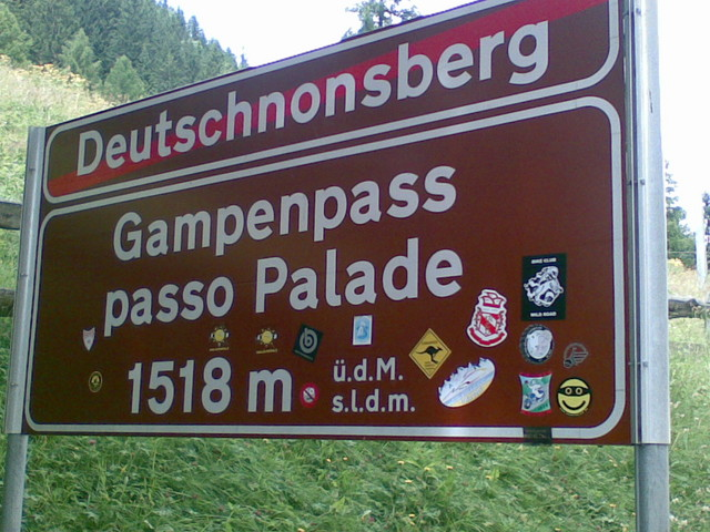 Gampenpass / Passo delle Palade