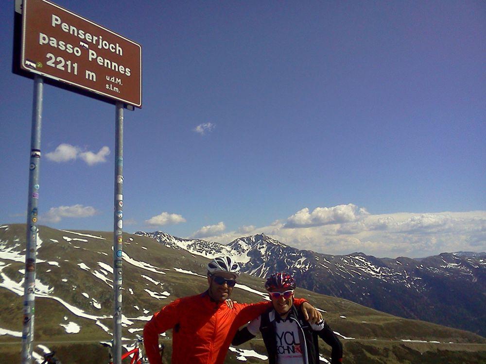 Mit dem Rennrad am Penserjoch (2211m) in den Sarneralpen / Südtirol