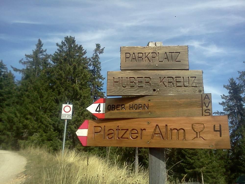 Endstation am Parkplatz Huber Kreuz im Eisacktal