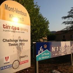 Start Auffahrt Mont Ventoux von Bédoin