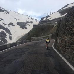Rennradtour um den Ortler / Graupelschauer