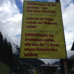 Ötztaler Radmarathon 2014: Warnung