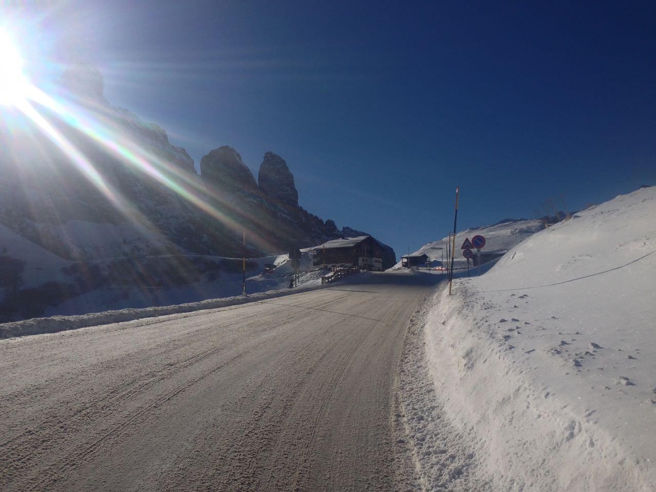 Winterradtour Grödnerjoch: Finale