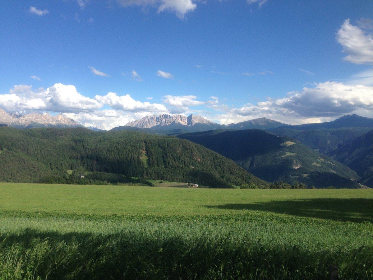 Rennradtour Oberbozen / Blick zum Latemar