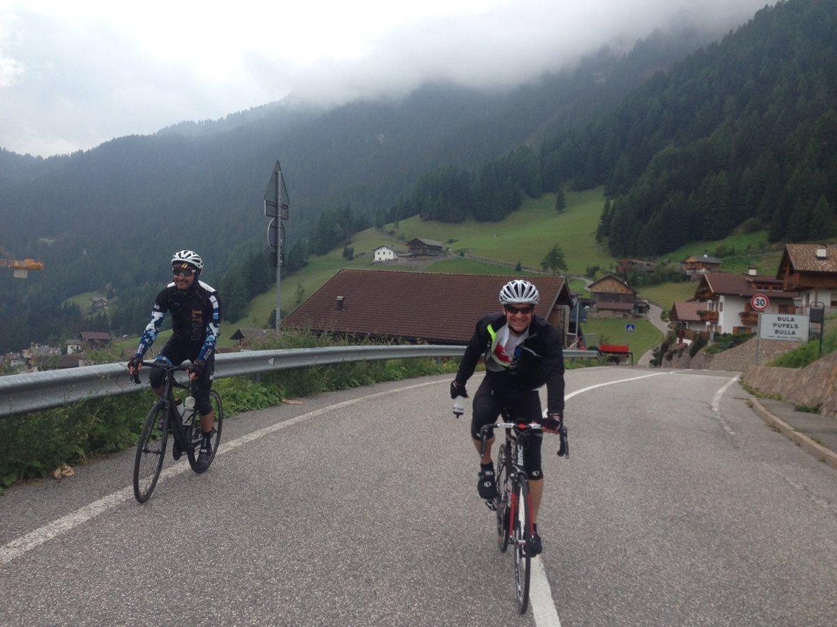 Rennradtour Seiseralm / Bill und Terry