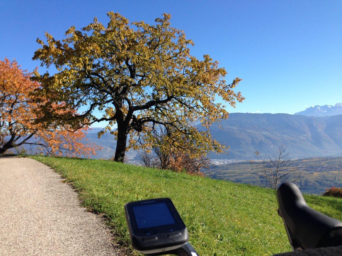 Rennradtour Buchwald / Aussicht auf Bozen