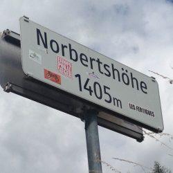 Rennradtour Reschen - Brenner: Norbertshöhe 1405m