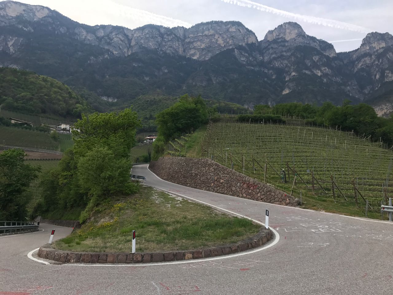 Steile Rennradrunde Südtiroler Unterland: Auffahrt von Kurtatsch