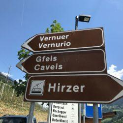 Rennradtour Passeiertal / Abzweig von der Hauptstraße