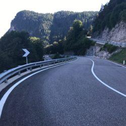 Rennradtour Sanremo - Bolzano: Mendelpass Abfahrt